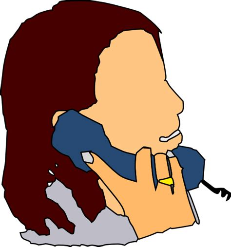 Talking Clipart talking in the phone clip at clker vector clip royalty free domain