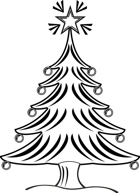 line drawing christmas clip art tree line drawings clipart best