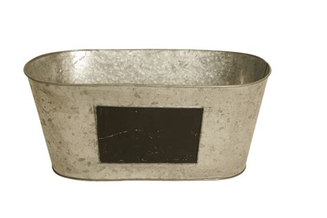 Galvanized Planters Wholesale set of 6 galvanized metal planters w chalkboards wholesale floral containers container sets