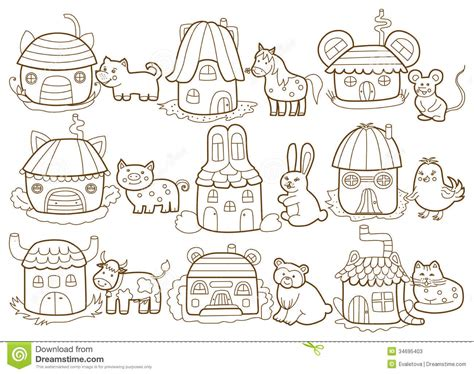 animal house coloring page pictures of animals houses house pictures