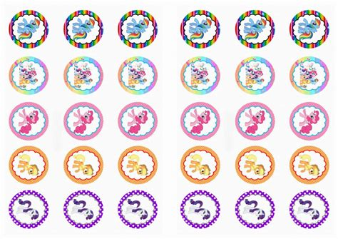 printable stickers for birthday my little pony stickers birthday printable