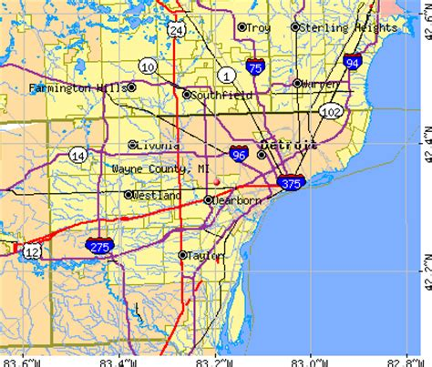 map of wayne county michigan map of wayne county michigan michigan map