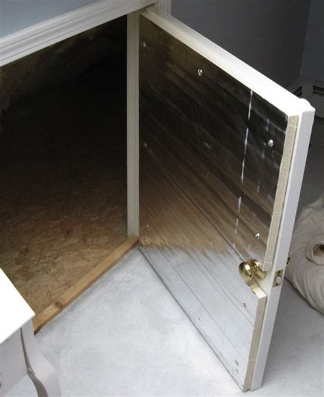 Attic Access Door Lowes by Marvelous Insulate Attic Door 3 Attic Knee Wall Access
