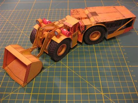 origami tractor tutorial pnh 5 tractor loader free construction vehicle paper model