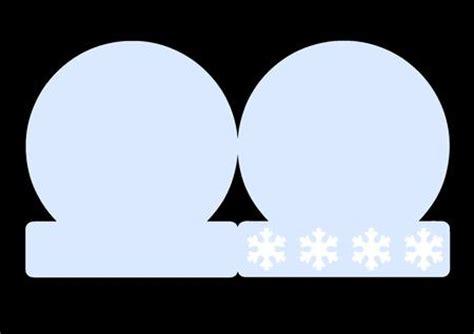 Snowglobe Card Template Cutting File Cup462380 1929 Craftsuprint Snow Globe Card Template