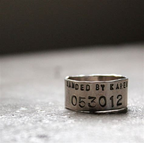 sterling silver duck band wedding ring personalized 3 8