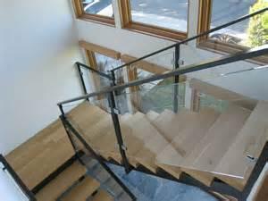 interior glass stair railing glass cls ot glass