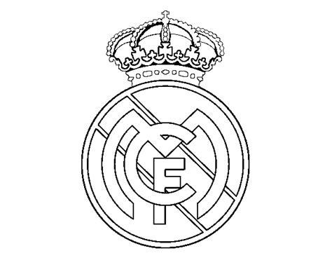 escudo del madrid para colorear az dibujos para colorear dibujo de escudo del real madrid c f para colorear