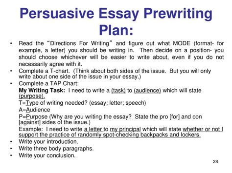 Persuasive Essay Exercise by Ppt New Jersey Ask Language Arts Grades 6 8 2014 Powerpoint Presentation Id 7098686
