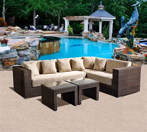 panorama outdoor patio sectional seating set tubs