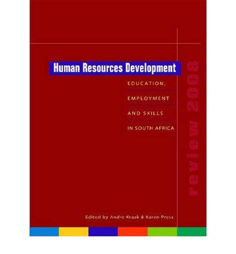 human resources development review 2008 andre kraak 9780796922038