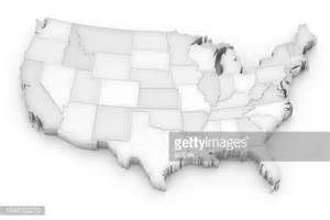 3dimensional grayscale map of the united states stock