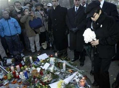 imagenes del funeral de john lennon ハリウッドセレブ 最新情報 ジョン レノン 25周忌