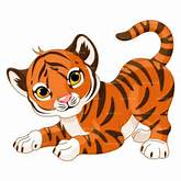 Baby Tiger Clipart - Image #17775