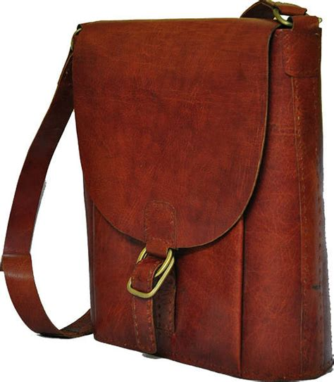 Handmade Leather Bag - handmade leather messenger bag by the fairground