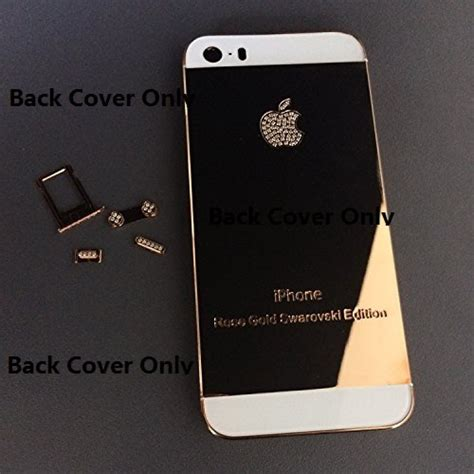 Tous Digital Black Cover Rosegold new for iphone 5s 24k gold swarovski edition crystals mirror shiny gold with