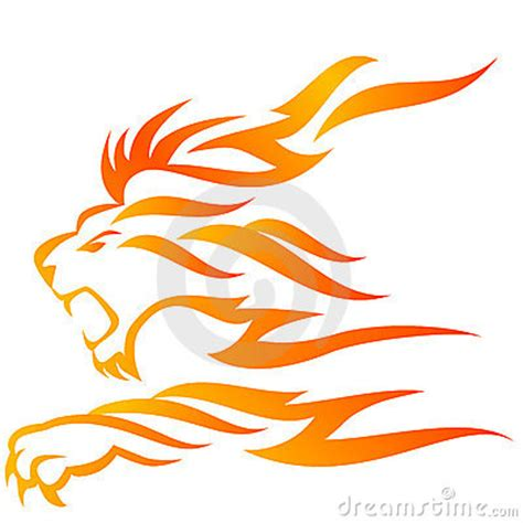 lion flame stock photography image