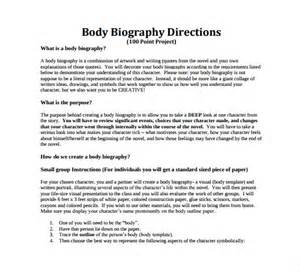 biography structure template sle biography 6 exle format