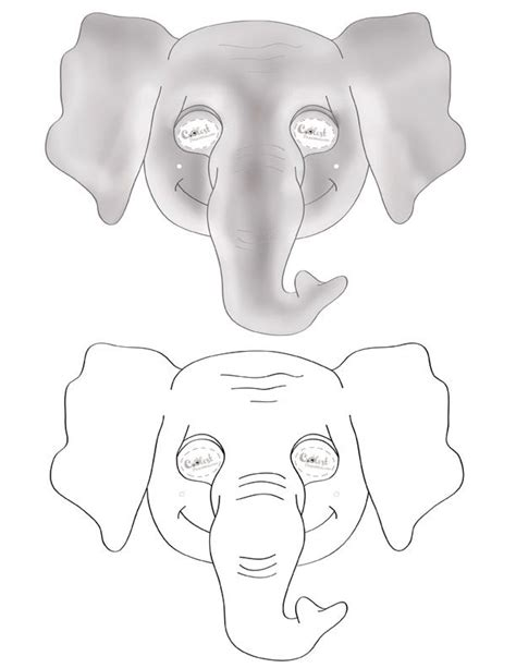 elephant mask coloring pages printable elephant mask coolest free printables theme