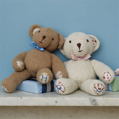 personalised teddy bear by laura long notonthehighstreet com