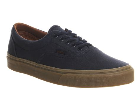 vans era gum mens vans era blue nights gum sole trainers shoes ebay