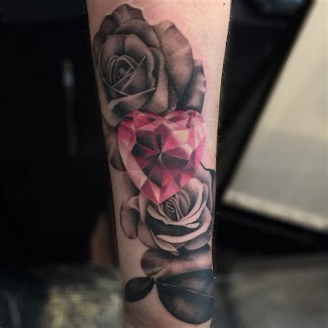 rose with diamond tattoo lou bragg on quot finished yesterday