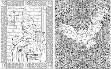 harry potter coloring book for adults grown ups preview the harry potter colouring book whsmith