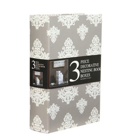 decorative storage nesting boxes decorative nesting storage book boxes set of 3 grey