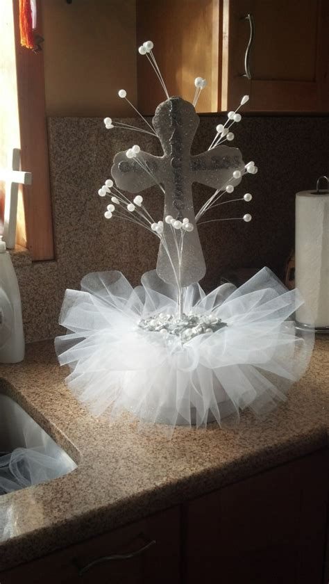 Baptism Centerpieces By Stoniascreations On Etsy Cute Baptism Table Centerpiece