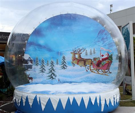 inflatable snow globe aussie events