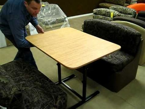 Extending Dining Tables by New Rv Table Mechanism Available At Factoryrvsurplus Com Youtube