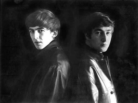 imagine de john lennon y george harrison un paseo con los beatles los beatles en hamburgo