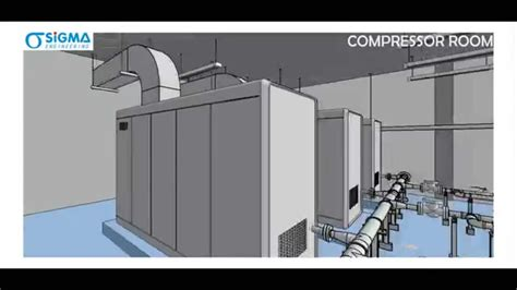 compressor room designed using revit mep by sigma engineering