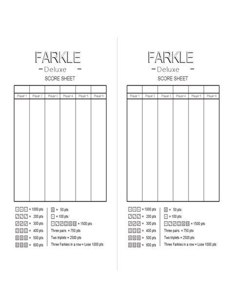 farkle score sheet farkle score sheet 2 free templates in pdf word excel