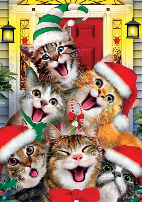 christmas cat selfie house flag  customdecor christmas cats cat selfie christmas animals
