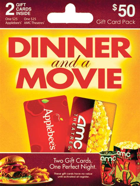 Dinner Movie Gift Cards - applebee s amc theaters
