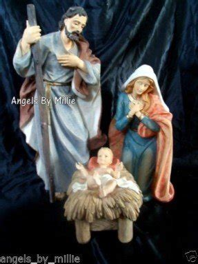 3 piece holy family christmas outdoor set large indoor nativity sets foter
