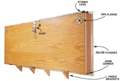 wall mounted folding work bench home dzine co za diy diy projects diagram for folding wall mounted workbench