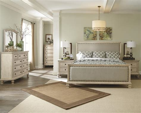 Millennium Bedroom Furniture by Demarlos King Size Upholstered Bed By Millennium