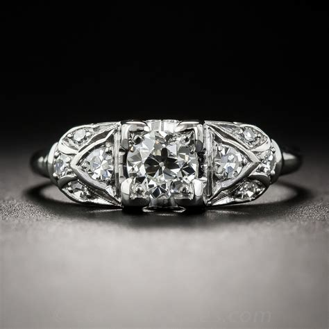 vintage platinum 41 carat engagement ring by