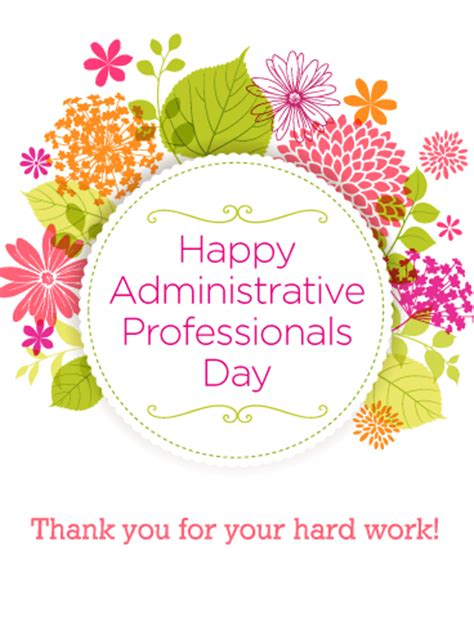 flower happy administrative professionals day card birthday greeting cards  davia