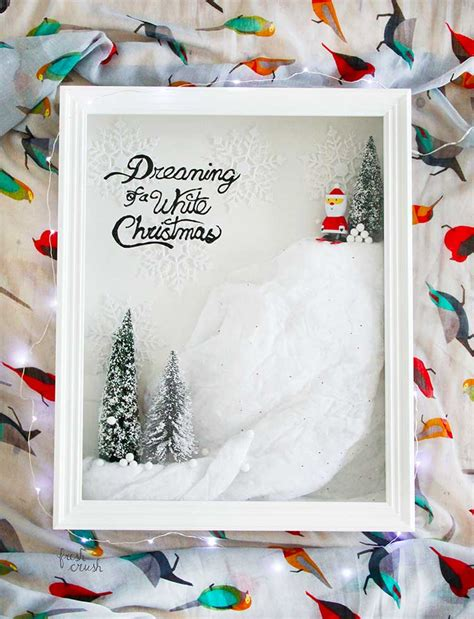 hometalk diy holiday winter scene shadow box