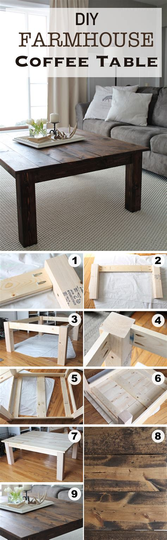 15 Creative Diy Coffee Table Ideas You Can Build Yourself Diy Farmhouse Coffee Table