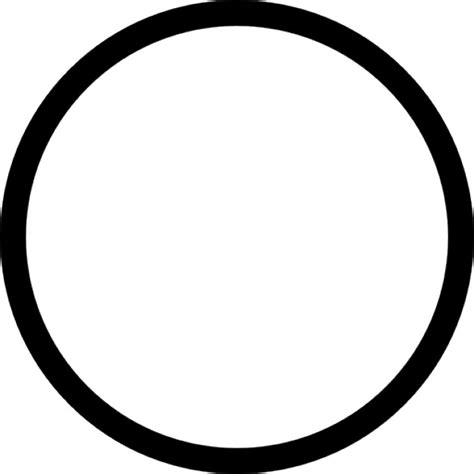 Circle Black Outline by Circle Outline Icons Free