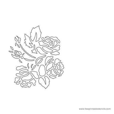 printable flower stencils roses  printable stencils