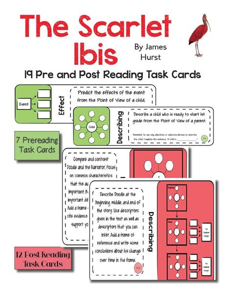 theme in literature songs literature and task cards 1000 images about short story the scarlet ibis on