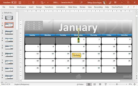 interactive calendar powerpoint template