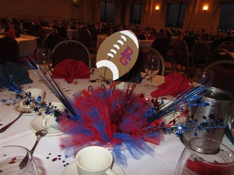 football banquet centerpieces football banquet centerpiece ideas
