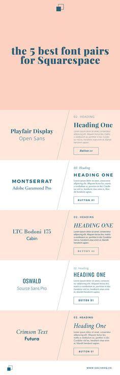 5 Feminine Google Font Combinations Typografie Typografie Design Und Schrift Feminine Squarespace Templates