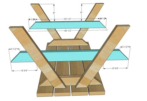 picnic bench plans free ana white build a bigger kid s picnic table diy projects